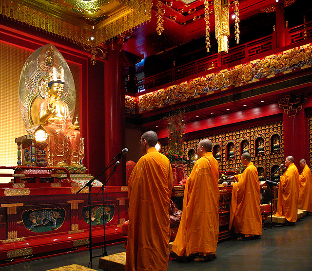 Prayers offered by monks