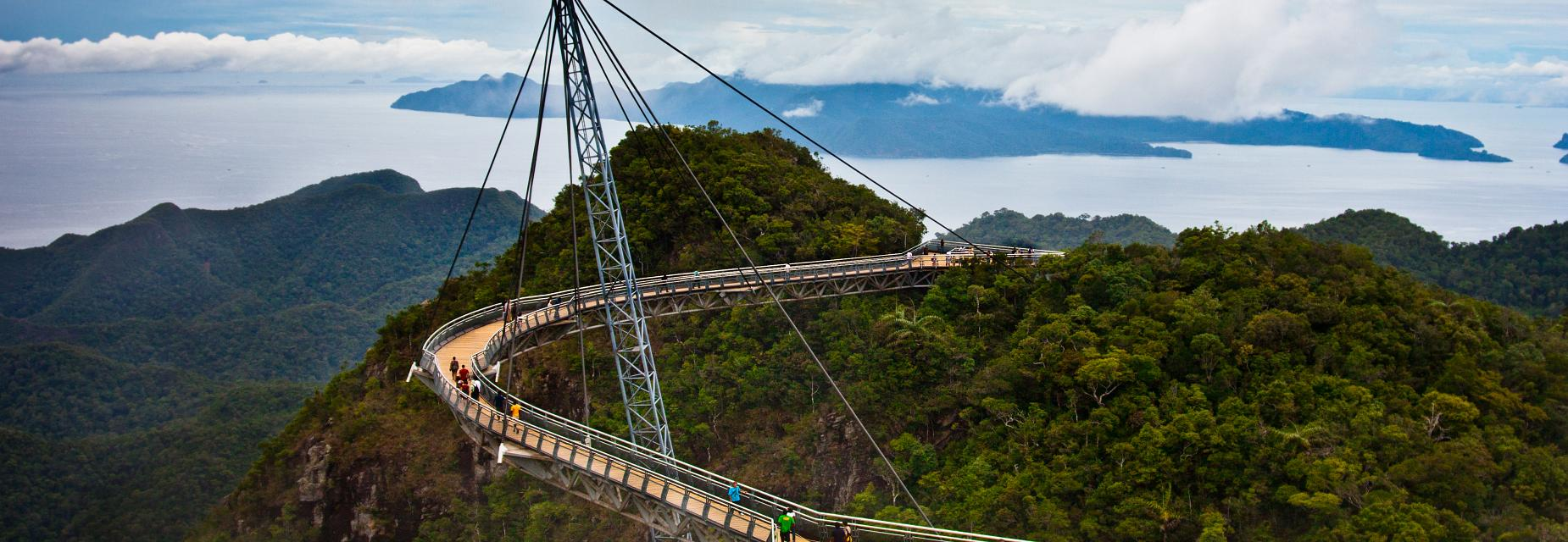 An amazing view from Langkawi Sky Bridge