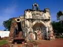 A replica of a Fort A Famosa located in Malacca, the Historical City of Malaysia.